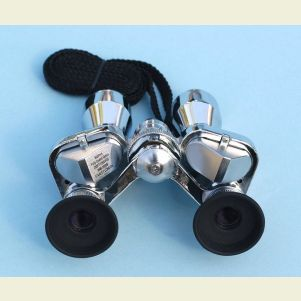 Engravable Antique Brass Binoculars With Leather Case