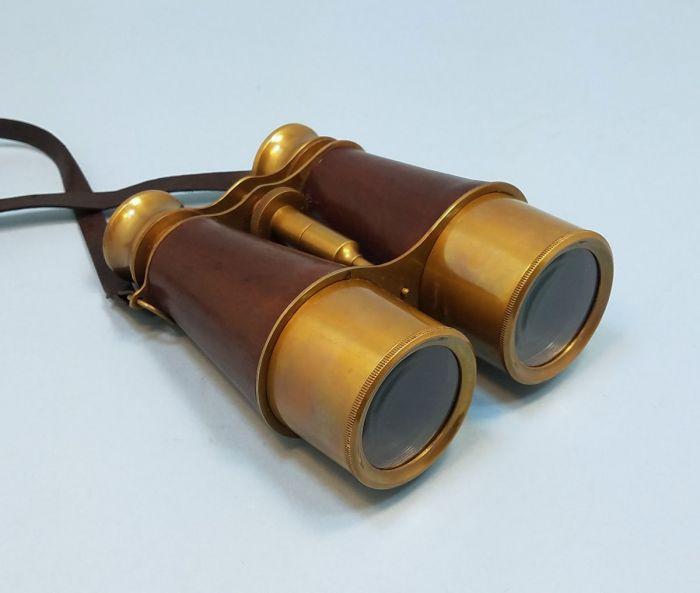 Brass Antique Plated Pocket Binocular Portable Folding Brass Nautical Binocular