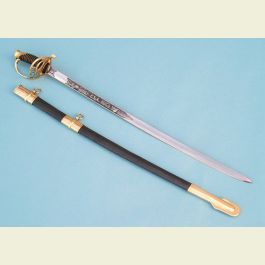 Engravable Confederate Cavalry Officer's Sword with CSA Etched Blade