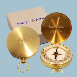 Stanley London Solid Brass Wilderness Scouting Compass