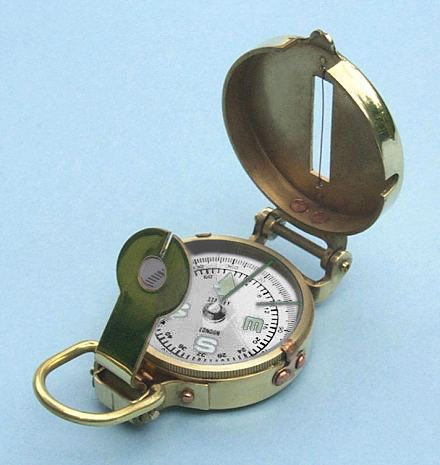 Engravable Polished Brass Military Lensatic Compass 9c9fd81c80cf