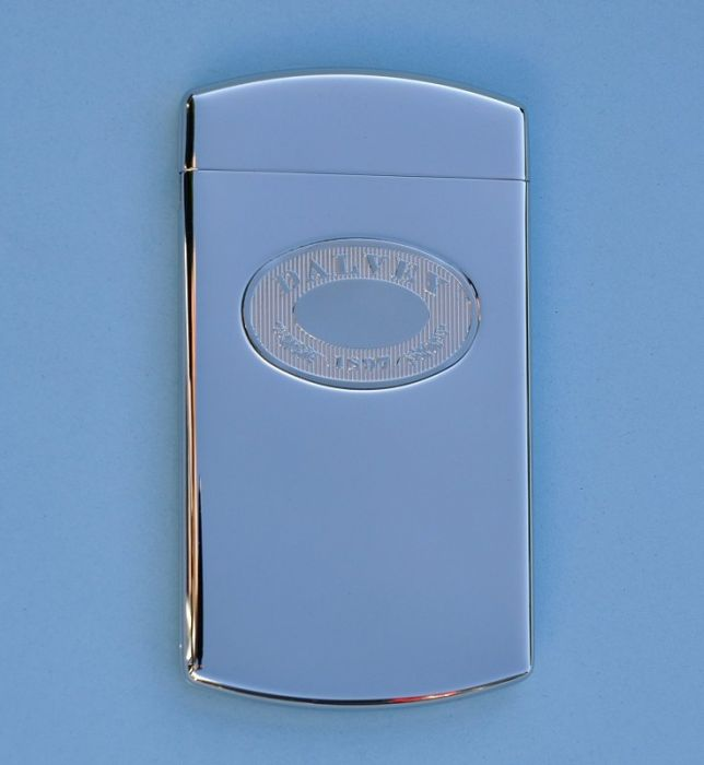 engravable dalvey stainless steel business card case with hinged lid - Business Card Case