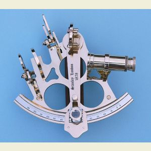Engravable Five-inch Rack and Pinion Brass Sextant with Case