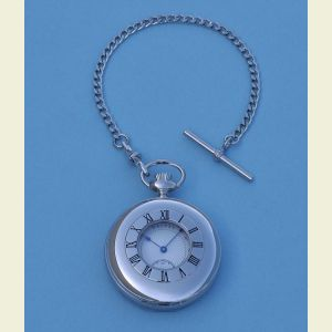 Engravable Dalvey Half Hunter Pocket Watch with Mechanical Movement