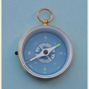 Engravable Brass Luminescent Hiking Compass