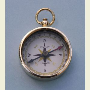 Engravable Airborne Paratrooper Brass Pocket Compass