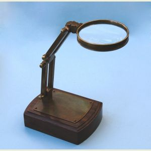 Engravable Solid Brass Adjustable Stand Magnifier