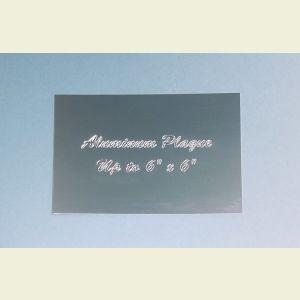 Custom Engraved Silver Aluminum Plaque