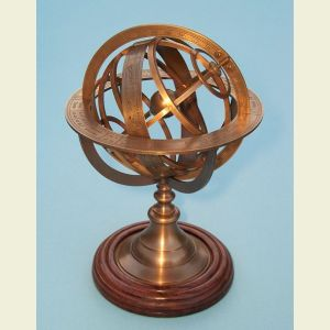 Regular Sized Brass Demonstrational Armillary Sphere