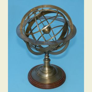 Extra Large Brass Demonstrational Armillary Sphere