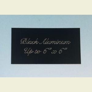 Custom Engraved Black Aluminum Plaque