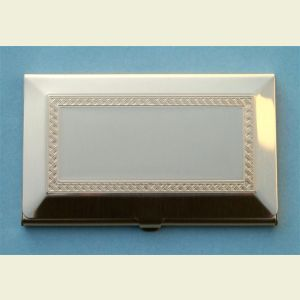 Engravable Brushed Brass Finish Business Card Case