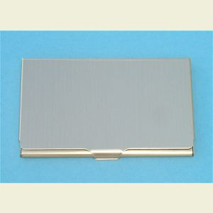 Engravable Slim Brass Finish Business Card Case