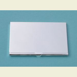Engravable Slim Nickel Plated Card Case