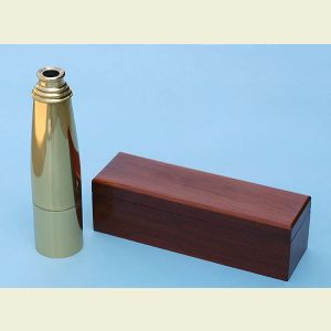 Engravable 29-inch Premium Brass Spyglass Telescope with Mahogany Case