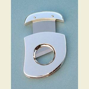 Engravable Silver Plated Cigar Cutter