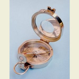 Engravable Clinometer Compass with Round Sighting Window