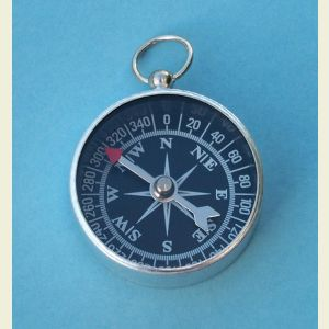 Open Face 1 5/16 inch Aluminum Pocket Compass