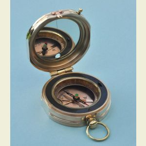 Engravable Brass Forestry Clinometer Compass with Leather Case