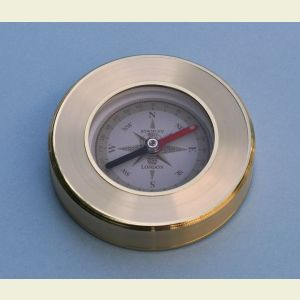 Engravable Brass Liquid Damped Luminescent Paperweight Compass