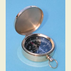 Engravable Brass Scouting Pocket Compass