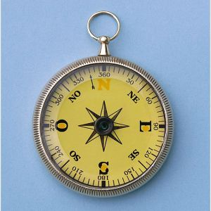Engravable Mariner's Open Face Brass Pocket Compass