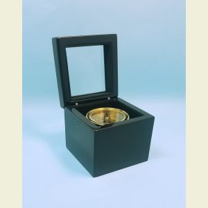 Executive Miniature Boxed Compass with Black Piano Finish Front View Open