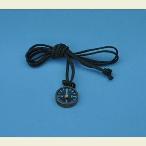 Olive Drab Luminescent Brass Compass with Lanyard