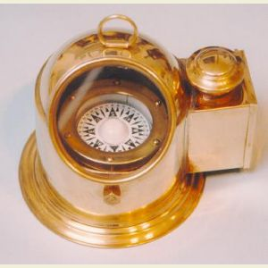 Engravable Air-Damped Regular Sized Gimbaled Binnacle Compass