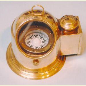 Engravable Air-Damped Regular Sized Gimbaled Binnacle Compass