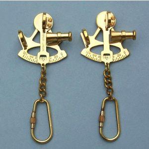 Brass Sextant Key Chain