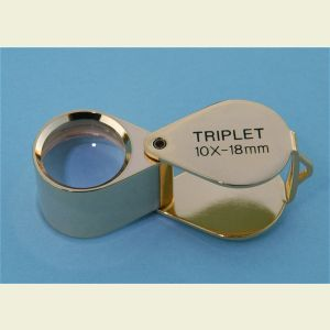 10x Triplet Magnifier and Eye Loupe with Leather Case