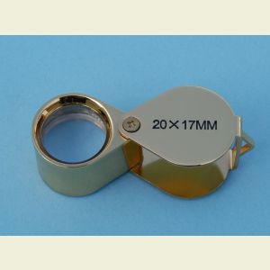 20x Folding Pocket Magnifier and Eye Loupe