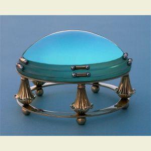 Large 5-Leg Brass Desk Magnifier