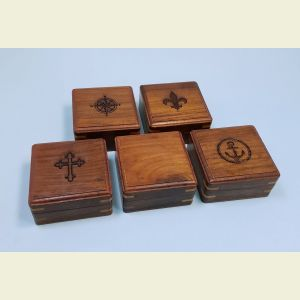 Engravable Medium Hardwood Storage Cases