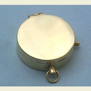 Engravable Polished Medium Brass Pocket Compass