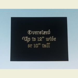 Oversized Custom Engraved Black Brass Plaque