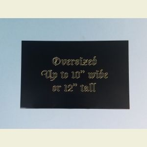 Oversized Custom Engraved Black Brass Plaque