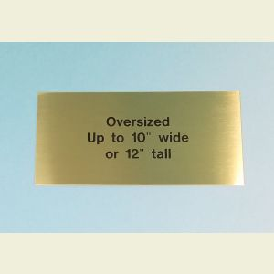 Oversized Custom Engraved Brass Plaque