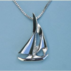 Sailboat Pendant with Chain