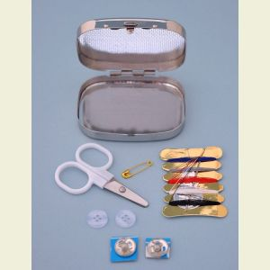 Engravable Silver Plated Sewing Kit