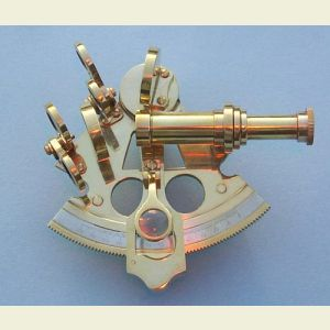 Polished Premium 3-inch Brass Sextant with Leather Case