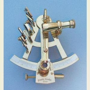 Engravable Special Purchase 4-inch Polished Brass Sextant with Case
