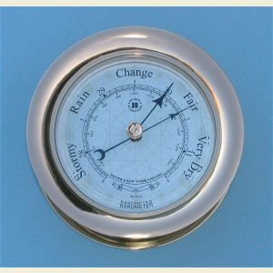 Large Size Solid Brass Ship's Barometer