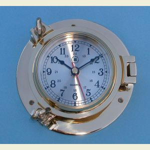 Medium Size Solid Brass Ship's Clock