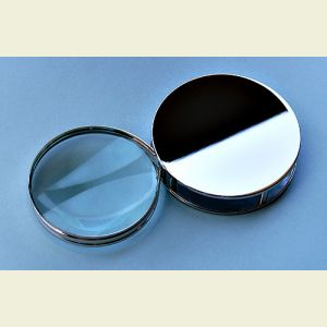 Engravable Chrome Plated Hinged Roll-out Magnifier