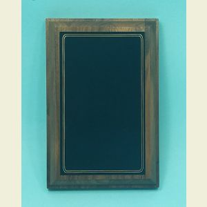 Large Walnut Award Plaque with Oversized Black Brass Plaque