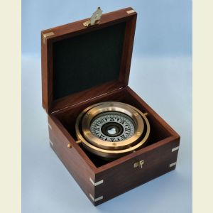 Engravable Modern Fully Functional Gimbaled Boxed Compass