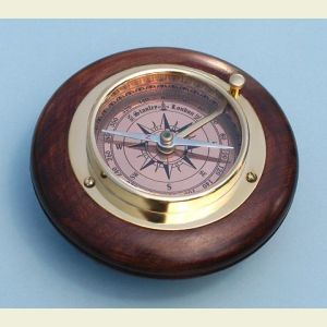 Engravable Small Directional Brass Desk Compass