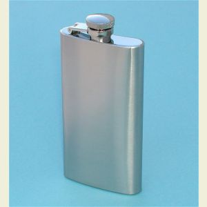Engravable Tall Stainless Steel 5 ounce Hip Flask